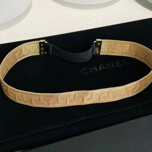 Chanel Golden Roman Head Band In Gold